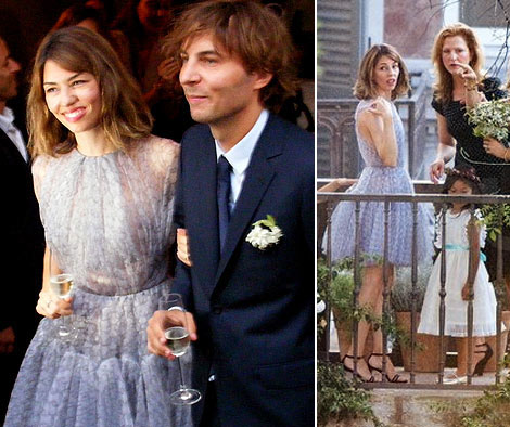 Sofia Coppola, The Bride, Wore A Lavender Azzedine Alaia Wedding Dress