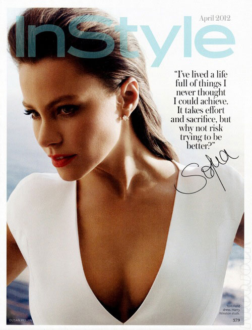 Sofia Vergara Is InStyle April 2012