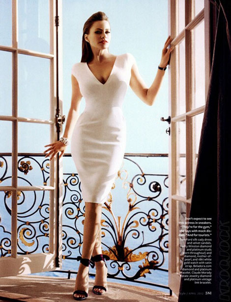 Sofia Vergara white Tom Ford dress InStyle