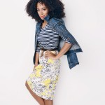 Solange Knowles mixing prints for Madewell