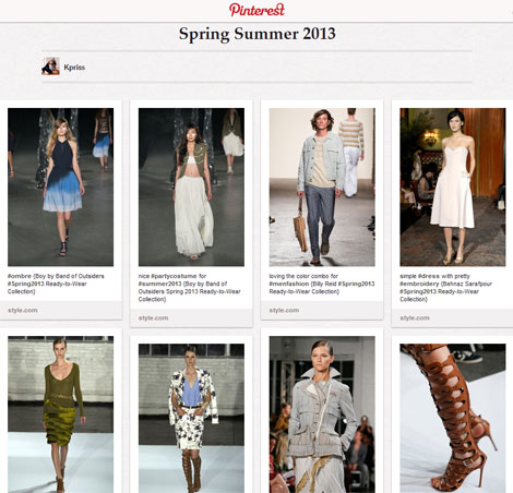 Spring Summer 2013 shows StyleFrizz Pinterest Board