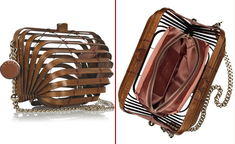 Stella McCartney's $2,000 Wooden Accordion Clutch. Would You?