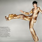 Stella Tennant Christopher Kane outfit for the Olympics Closing Ceremony Vogue