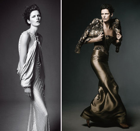 Stella Tennant Givenchy couture Armani Prive dress
