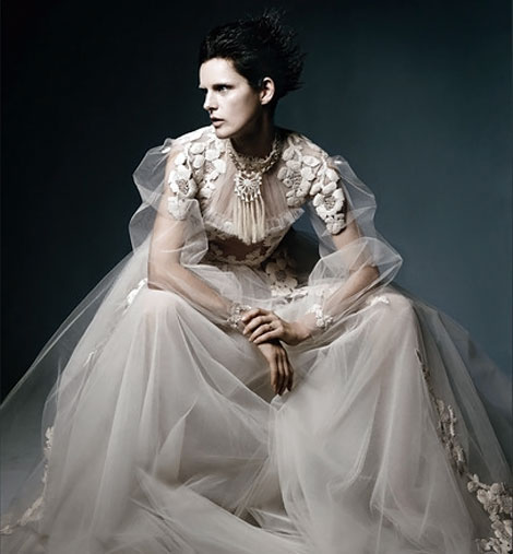 Stella Tennant Valentino Haute Couture dress