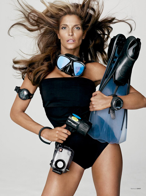 Stephanie Seymour sports fit V Magazine