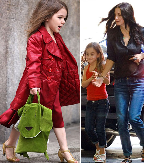 Suri Cruise Coco Arquette wear high heels sandals