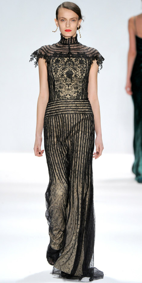 Lace Drama: Tadashi Shoji Fall Winter 2012 2013