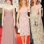 Taissa Farmiga Connie Britton Andrea Riseborough pale dresses 2012 Golden Globes