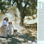 Tatjana Patitz and her son in Vogue