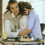Tatjana Patitz and her son in Vogue by Peter Lindbergh