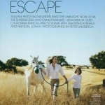 Tatjana Patitz and her son photographed on California ranch do Vogue