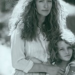 Tatjana Patitz and her son photographed by Peter Lindbergh for Vogue 