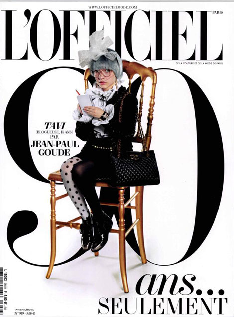 Tavi l Officiel Paris October 2011 cover by Jean Paul Goude