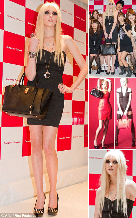 Taylor Momsen Looks Unhappy With Her Samantha Thavasa Bags