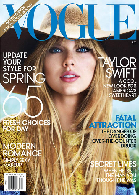 Taylor Swift Vogue February 2012 cover