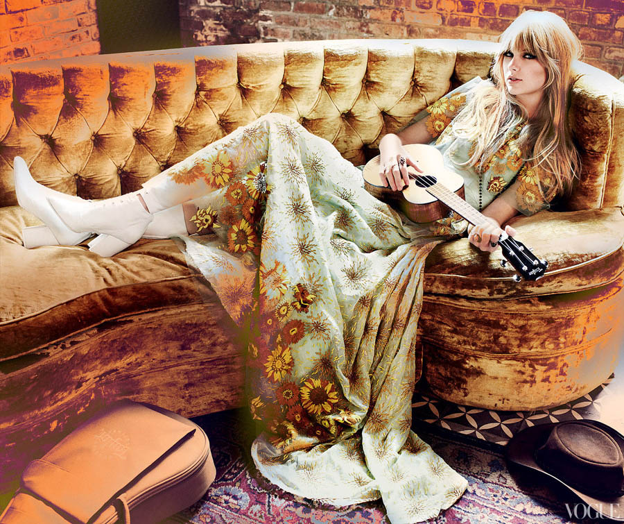 Taylor Swift Vogue February 2012 wearing Rodarte