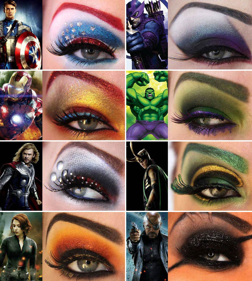 8 Halloween Super Makeup Suggestions: The Avengers Eyes Makeup