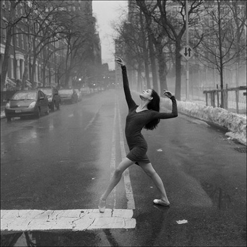 The Ballerina Project empty street January first