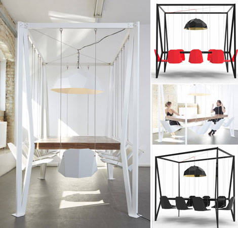 The Most Amazing Dinner Table Swing Table