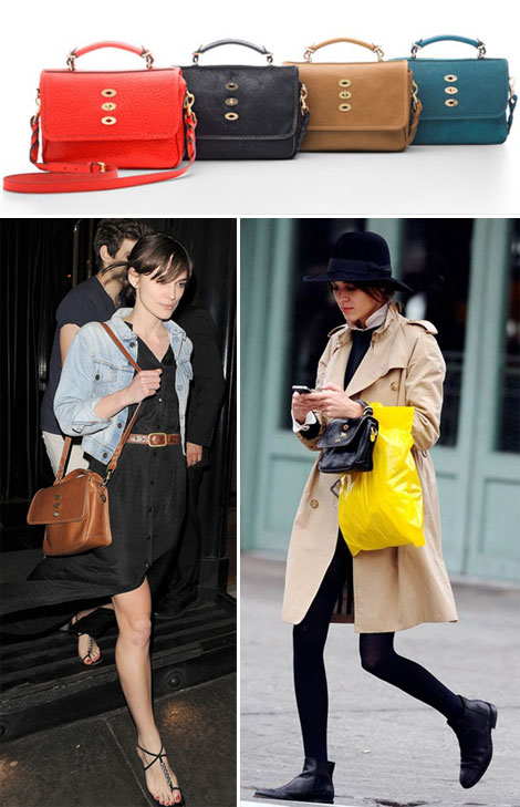 The new must wear bag Mulberry Bryn as seen on Keira Knightley Alexa Chung