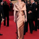 Tilda Swinton Haider Ackermann bronze dress Cannes 2012 Red Carpet