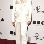Tilda Swinton Pomellato official event white pajama
