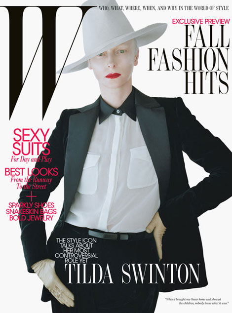 Tilda Swinton W Magazine August 2011 cover