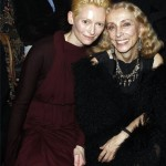Tilda Swinton with Franca Sozzani
