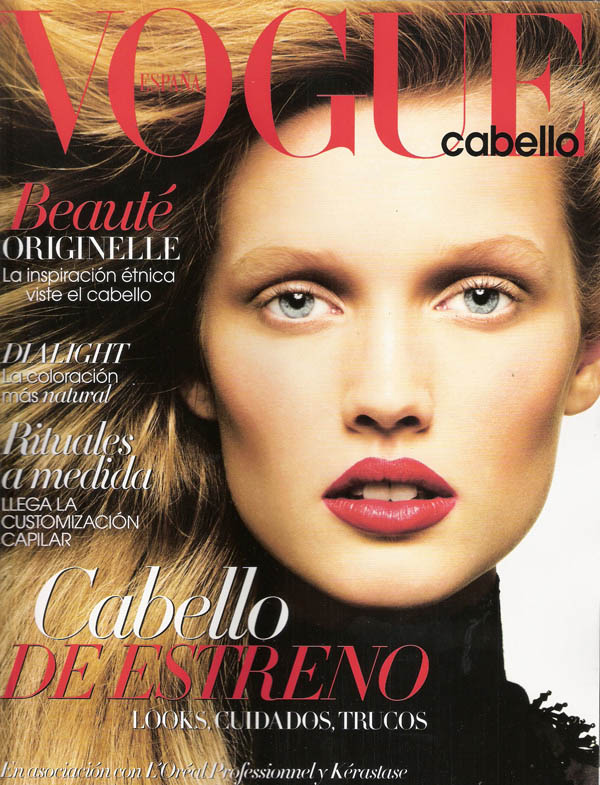 Toni Garn Vogue Spain hair October 2011