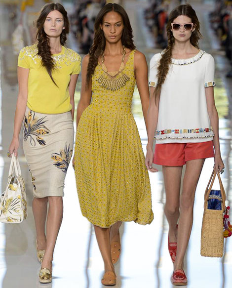 Playful & Sunny: Tory Burch Spring Summer 2013 Collection
