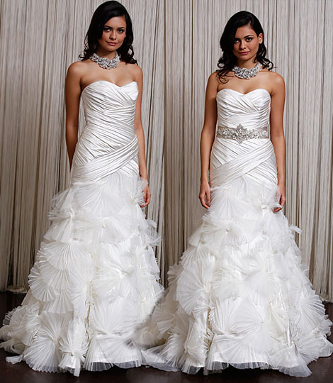 Two wedding dresses in one Badgley Mischka bridal gown Anastacia