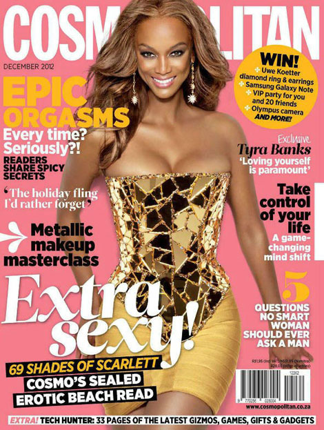 Tyra Cosmo South Africa December 2012 cover