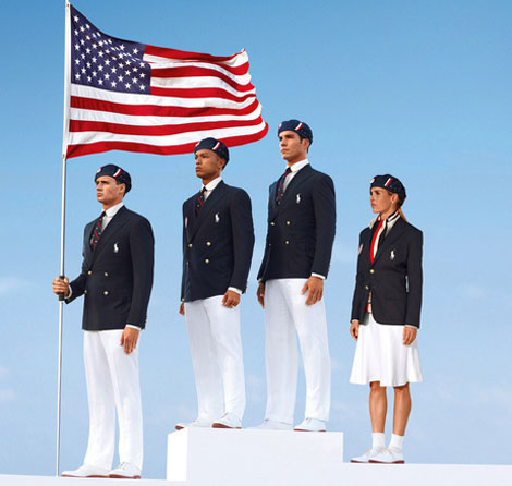 US Olympic Team with Ralph Lauren uniforms