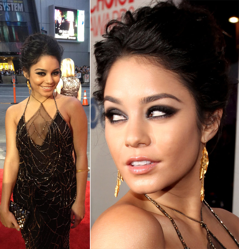 Vanessa Hudgens In Sheer Jenny Packham Black Dress 2012 People's Choice Awards
