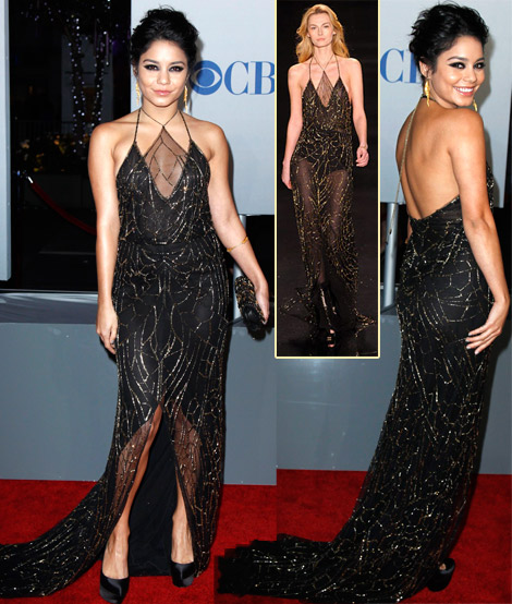 Vanessa Hudgens black dress 2012 people s choice awards