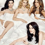 Vanity Fair TV Issue 2012 covergirls in bed