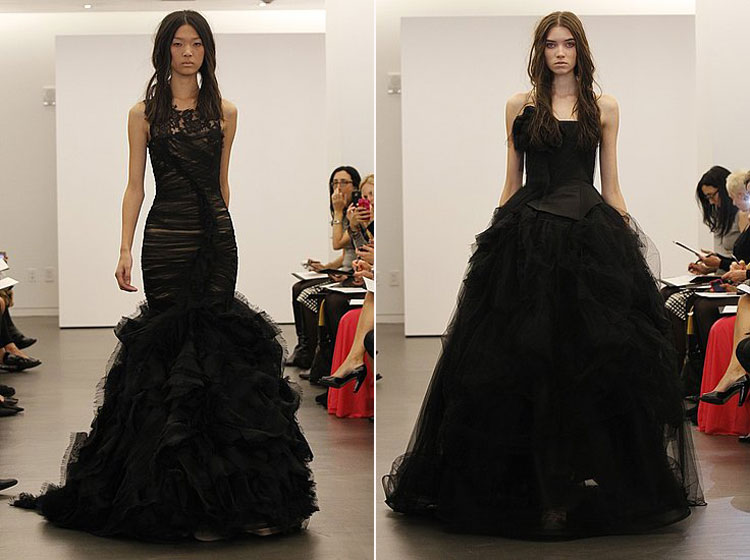 Latest Bridal Wear Trends Vera Wang Black Wedding Dresses