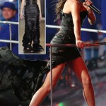Victoria Beckham Giles black dress Spice Girls reunion Olympics Closing Ceremony
