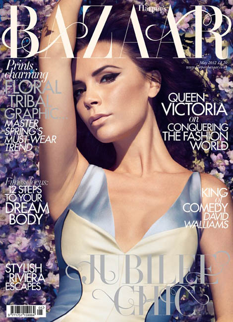 Victoria Beckham Harper s Bazaar UK May 2012 cover