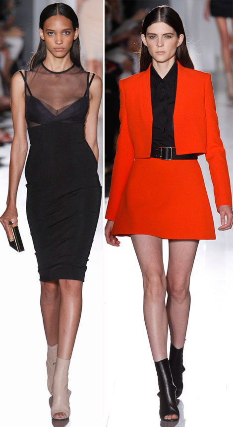 Orange, Black And White Victoria Beckham Spring Summer 2013 Collection