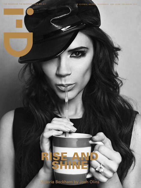 Victoria Beckham black and white i D Magazine cover