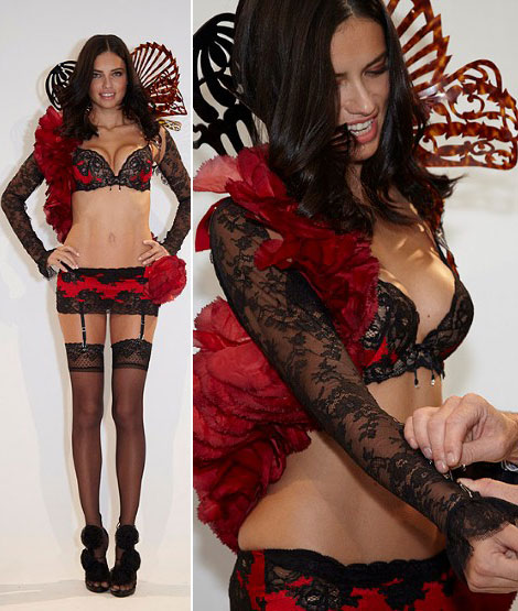 Victoria s Secret 2011 Adriana Lima red and black