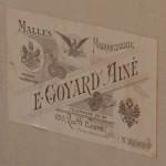 Vintage Goyard trunk label