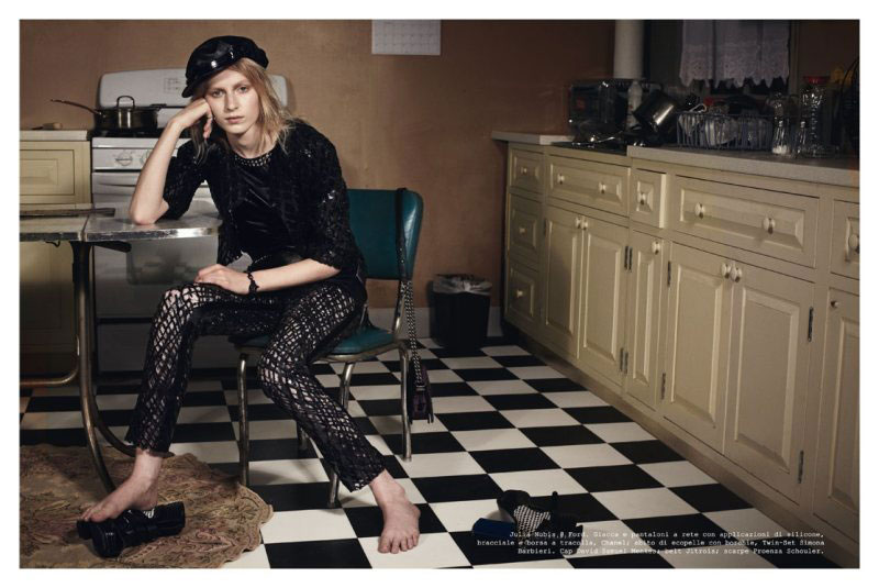 Vogue Italia All Dressed Up kitchen pictorial