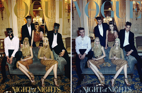 Vogue Italia April 2012 Night for Nights covers