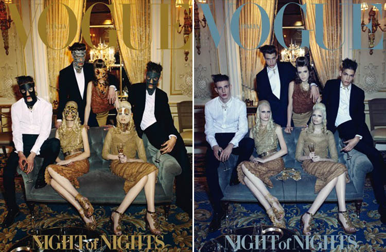Vogue Italia April 2012 Double Cover Night Of Nights