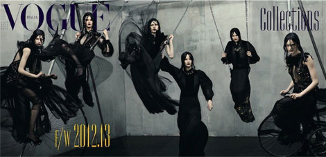 Vogue Italy Goth Cover July 2012