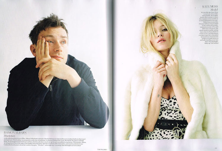 Vogue UK June 2012 Damon Albarn Kate Moss