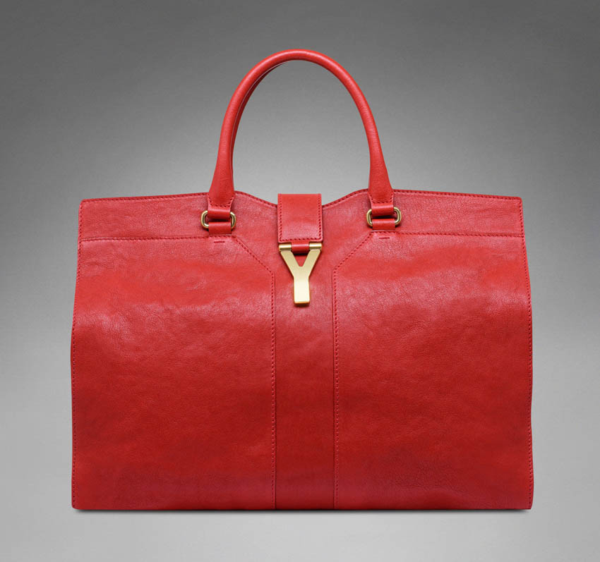 Yves Saint Laurent red Chyc Cabas